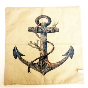 Anchor Nautical Sea Life Pillow COVER ONLT NWOT